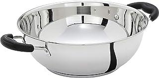 Amazon Brand - Solimo Stainless Steel Induction Bottom Kadhai (25cm, 3000 ml)