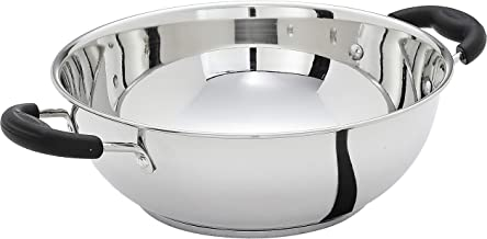 Amazon Brand - Solimo Stainless Steel Induction Bottom Kadhai (25cm, 3000ml)