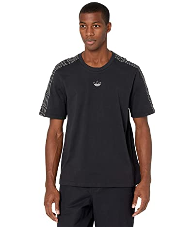 adidas Originals Sport 3-Stripes Tee (Black/Chalk White) Men
