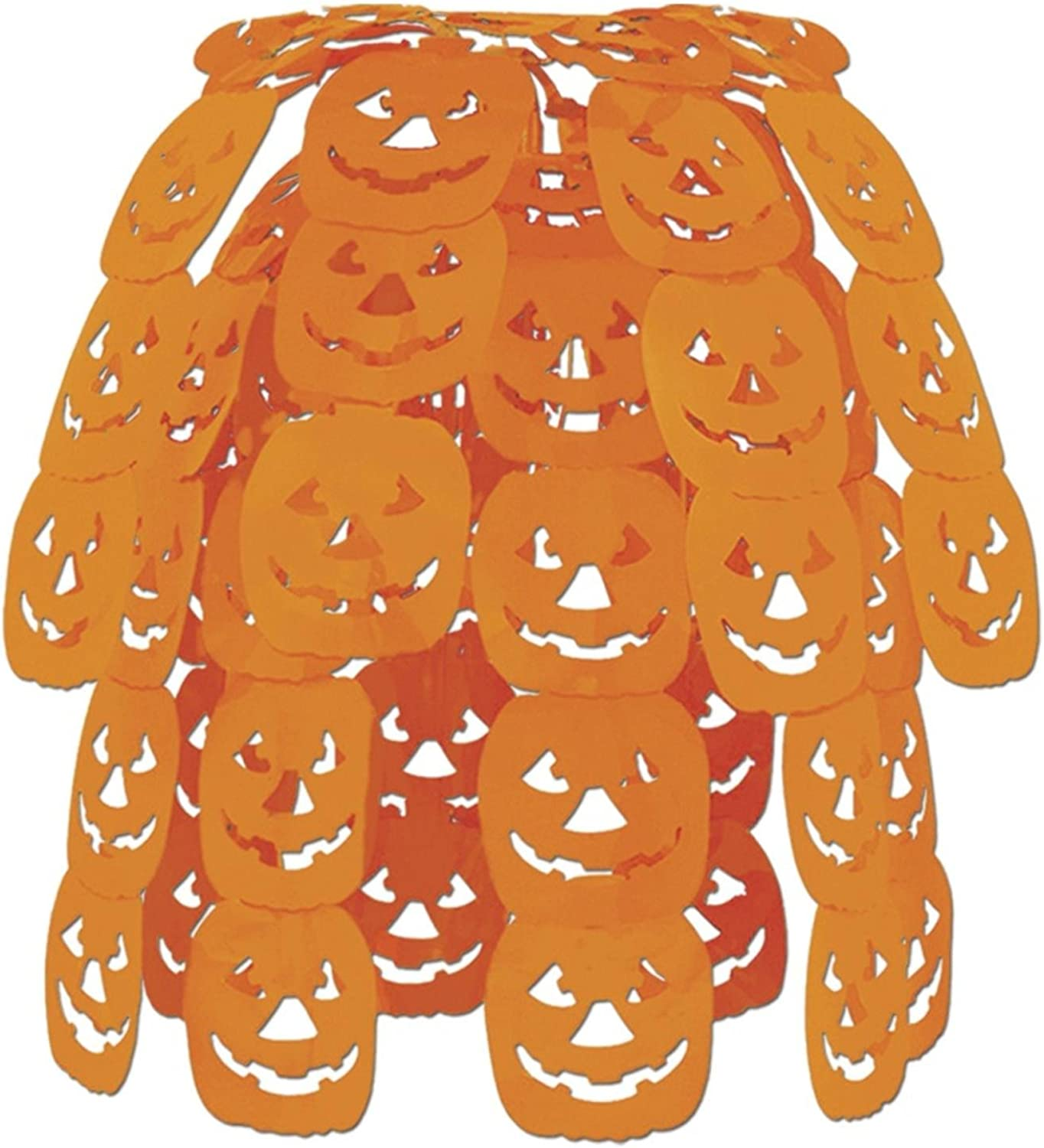 Club Pack of 12 Cascading Halloween JackOLantern Hanging Party Decorations 24