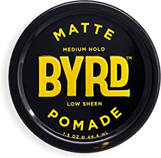 BYRD Hair Matte Pomade Mens Medium Hold/ Low Sheen, 1.5 OZ