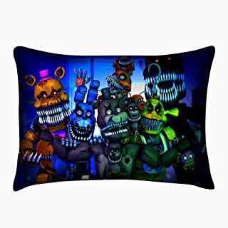 TTPLAY Store Custom Five Nights at Freddy's Pillowcase Zippered Cover Both Sides Pillowslip Size 20x30