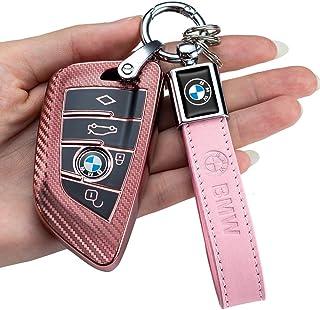 Sponsored Ad - for BMW Carbon Fiber Square Key case (for BMW Carbon Fiber pink for BMW Key fob Cover, Key Fob Case for BMW...