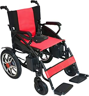 Culver 2019 Model Electric Wheelchair - Foldable Lightweight Heavy Duty Lead Acid Battery Electric Power Wheelchair FDA Registered Device Long Range Battery