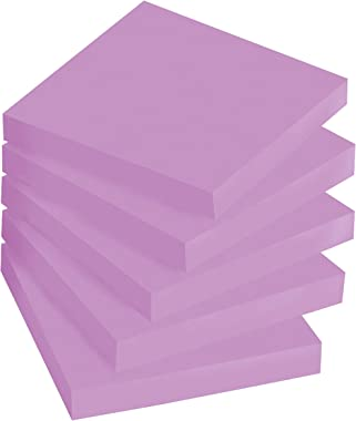 Post-it Super Sticky Notes, 3x3 in, 5 Pads, 2x the Sticking Power, Purple Iris, Recyclable (654-5SSCG)