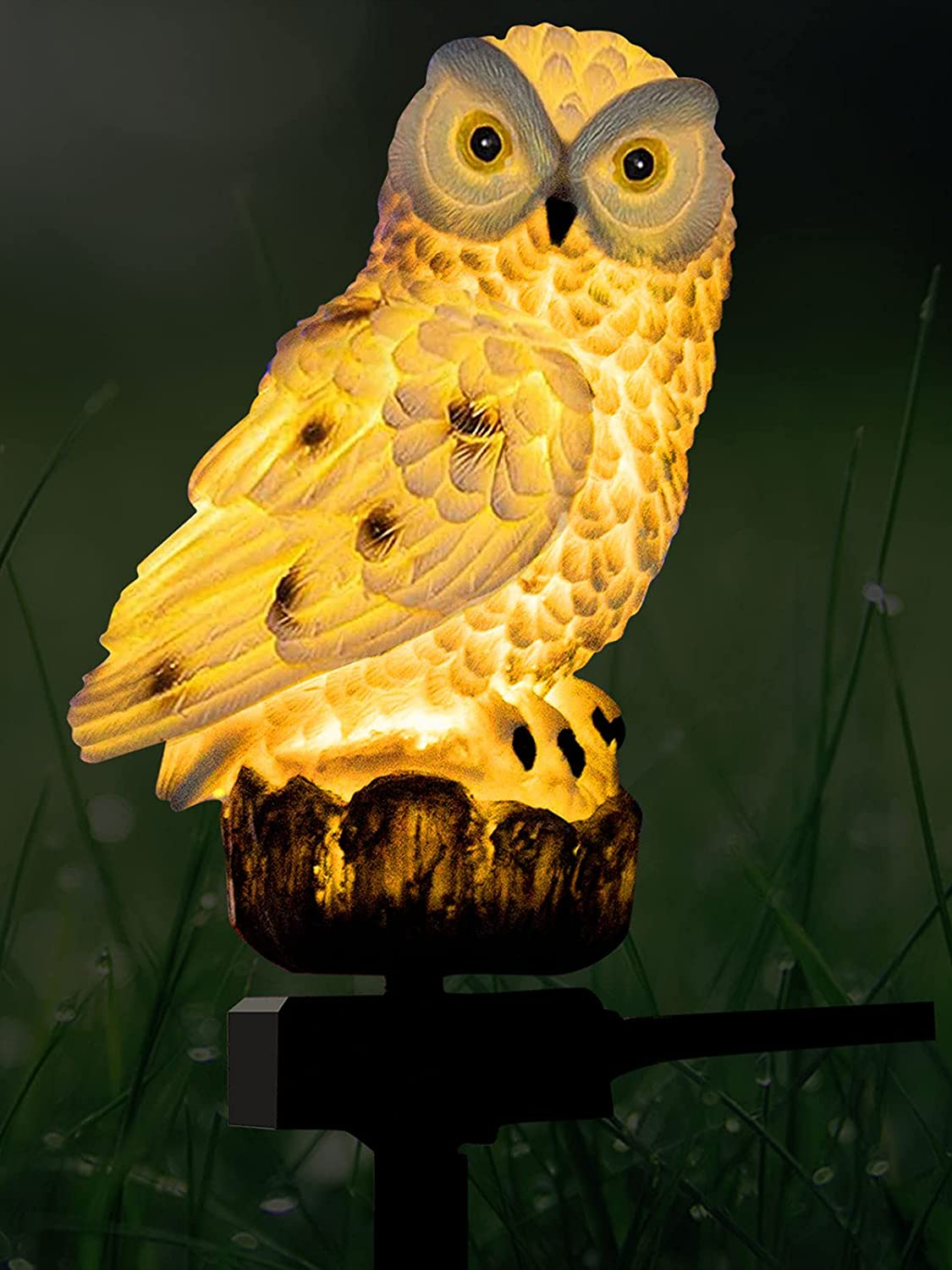 White Owl Outdoor Solar Lights Free Shipping New Garden Ani NBLJF Decorative trust Resin