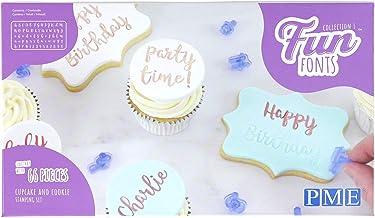PME Fun Fonts Cupcake & Cookie Stamping Set de 66 unidades, azul, estándar