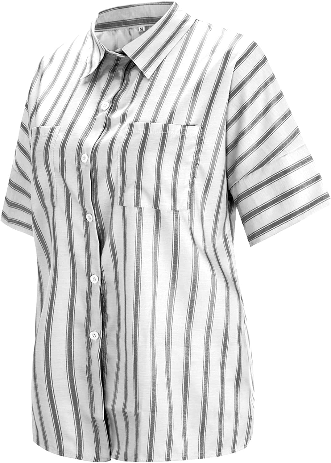 Half Sleeve Shirts for Women Challenge the lowest price of Japan ☆ Casual Virginia Beach Mall w T-shirts Striped Business
