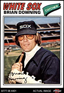 1977 Topps # 344 Brian Downing Chicago White Sox (Baseball Card) Dean's Cards 6 - EX/MT White Sox