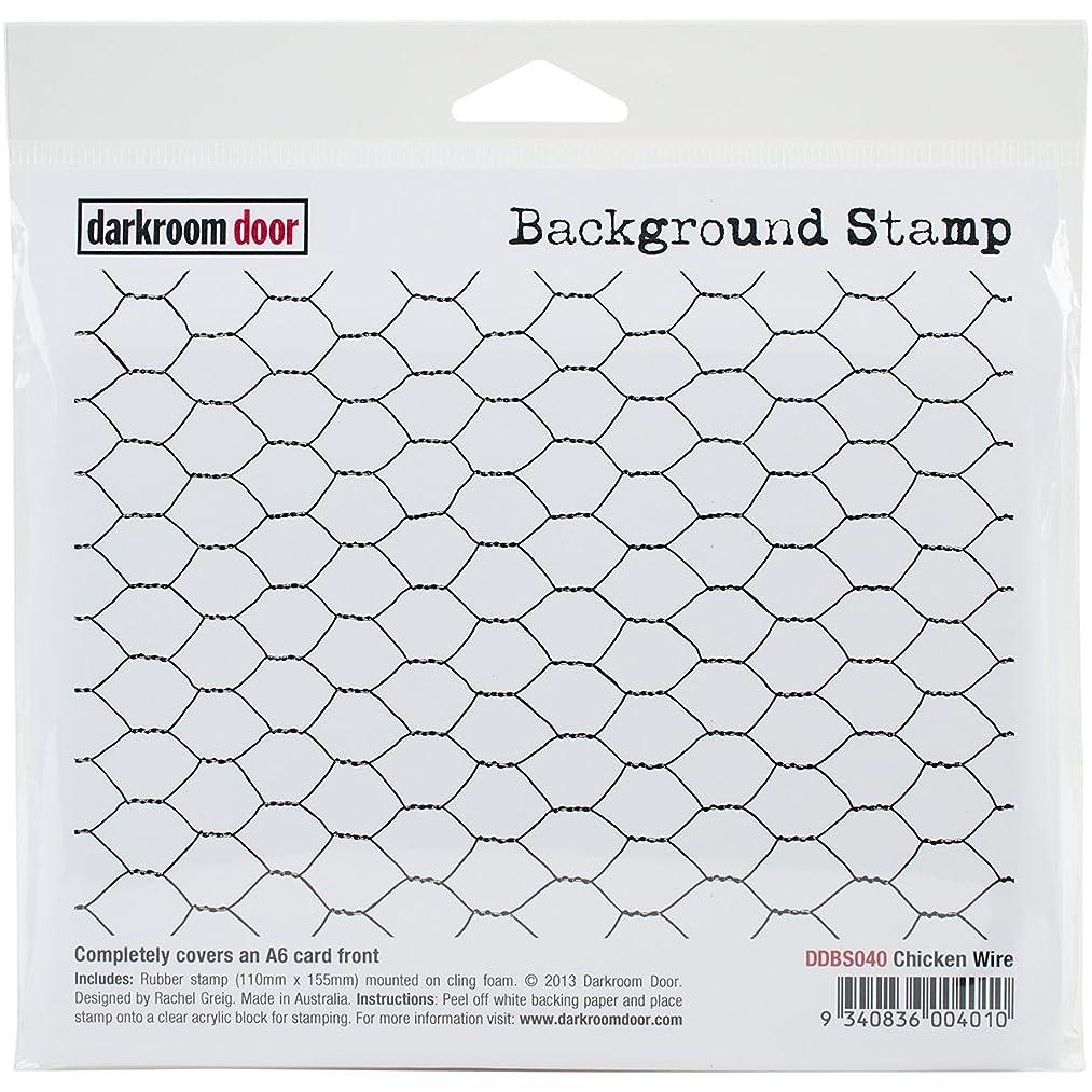 Darkroom Door Background Cling Stamp 4x6-Chicken Wire