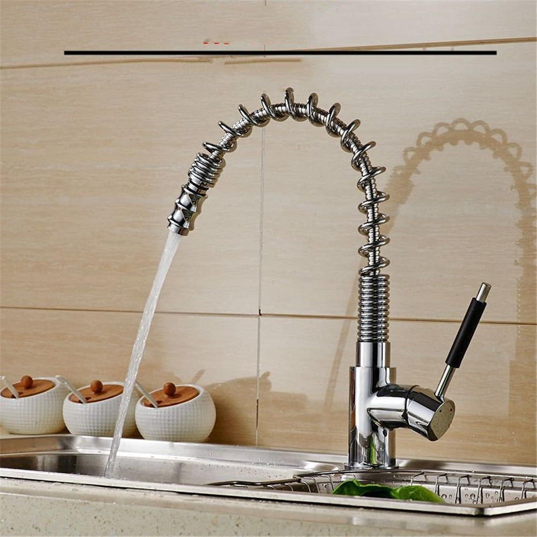 Gyps Faucet Waschtisch-Einhebelmischer Waschtischarmatur BadarmaturZiehen Sie die Feder Küche Wasserhahn Warmes und Kaltes Gericht Waschbecken voll Kupfer Waschbecken Wasserhahn