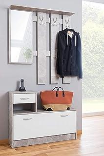 Armadio Guardaroba Ingresso Ikea.Amazon It Mobili Ingresso Con Appendiabiti Casa E Cucina