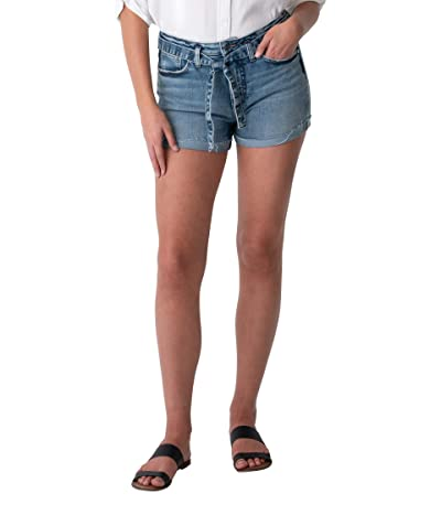 Silver Jeans Co. Sure Thing High-Rise Shorts with Tie Belt L28511EPK287