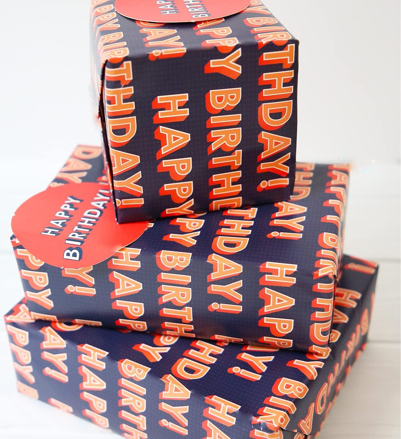 Abacus 12368A - Paquete de papel de regalo con 2 hojas y 2 etiquetas, sin plástico