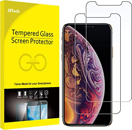 JETech Screen Protector for Apple iPhone Xs and iPhone X, Tempered Glass Film, 2-Pack