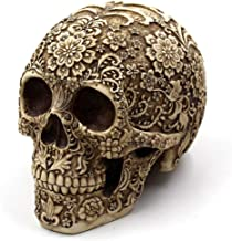 "Sisenny 8"" Creative Pattern Skull Modern Skull Statue Personality Home Decoration Death Skull Ornaments"