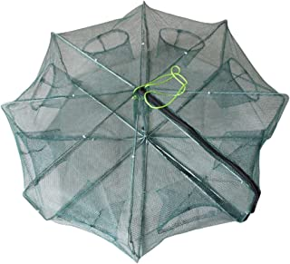 ICE SEA Portable Folded Collapsible Fishing Net Fish Minnow Crawfish Crab Trap Lobster Shrimp Baits Cast Mesh Trap