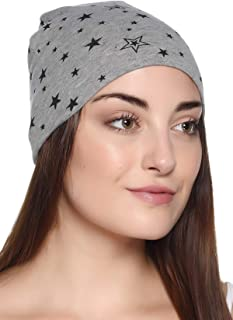 69GAL Women Cotton Lycra Skull Cap (Multicolor_Free Size) (Pack of 1)