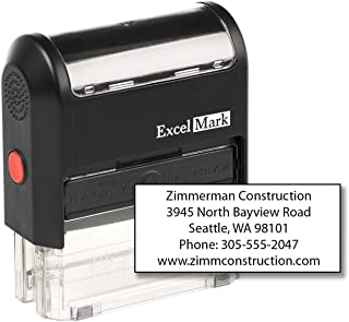 ExcelMark Custom Self Inking Rubber Stamp - Home or Office (A2359-5 Lines)