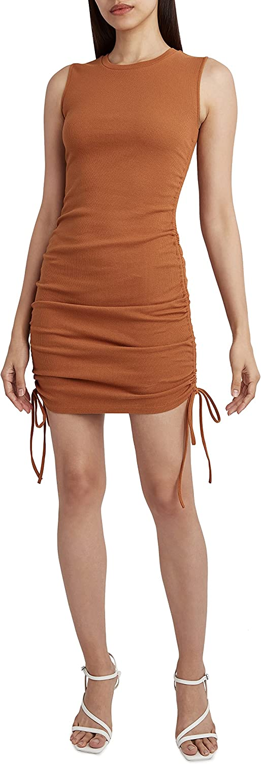 BCBGeneration Women's Mini Dress with Drawstrings and Fitted Bodice