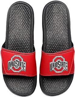 FOCO NCAA Mens Legacy Stripe Sport Slide Flip Flop Sandals