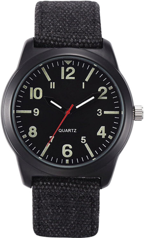 Vavna Fashion Unisex High order Store Canvas Strap Crime Army Quartz Swiss Watch