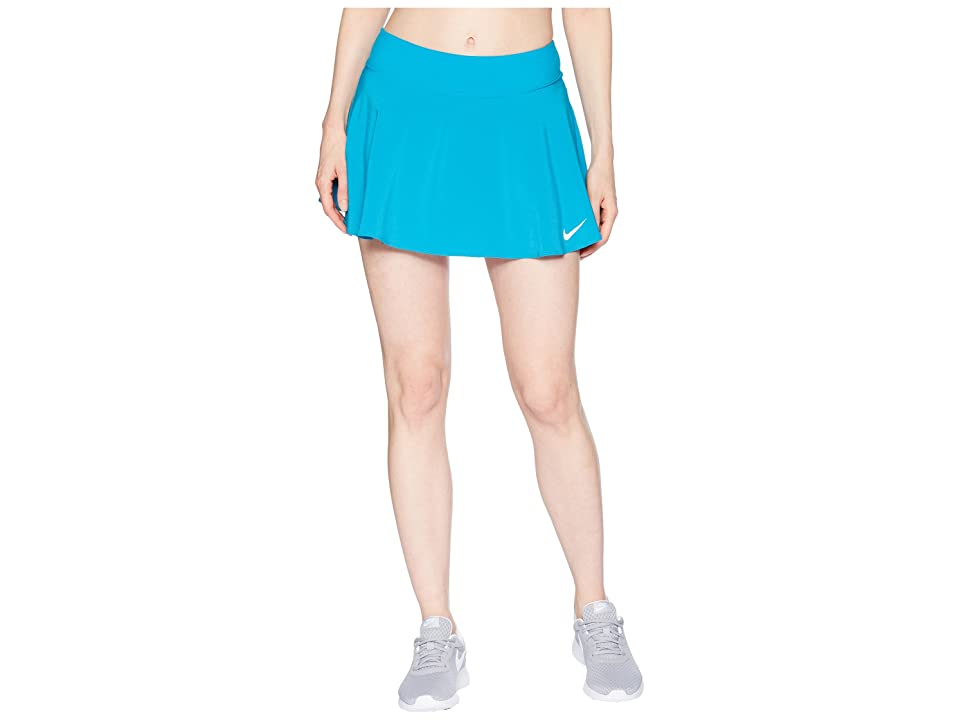 Nike Nike Court Flex Pure Tennis Skirt (Neo Turquoise/White) Women