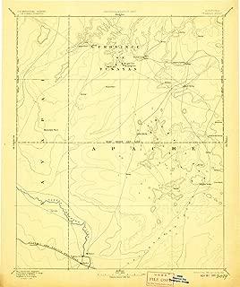 YellowMaps Tusayan AZ topo map, 1:250000 Scale, 1 X 1 Degree, Historical, 1886, Updated 1906, 19.9 x 16.6 in