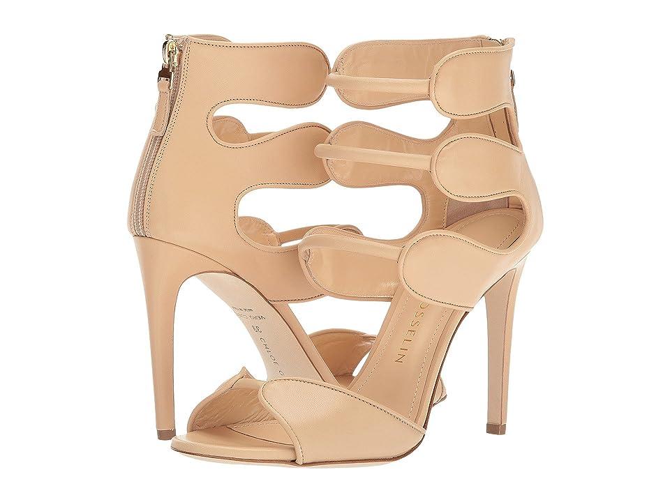 CHLOE GOSSELIN Larkspur Calf Suede Heel (Nude) High Heels