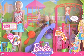 BARBIE I Can Be... PRESCHOOL TEACHER PLAYSET w BARBIE Doll, KELLY Doll, PLAYGROUND SLIDE & SWING & More! (2008)