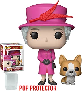 Funko Pop! Royals: The Royal Family - Queen Elizabeth II with Corgi Vinyl Figure (Bundled with Pop Box Protector Case)
