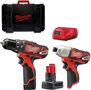 Milwaukee M12BPP2B-421C M12 Twin Pack (M12BPD, M12BID, 1 x 2, 1 x 4.0ah Battery, Charger, BMC)