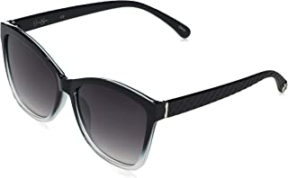 Women's J5823 Ombre Vintage Rectangular Sunglasses with Quilted Arms, Metal Logo & 100% UV Protection, 55 mm