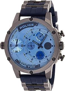 Police Reloj Multiesfera para Hombre de Cuarzo con Correa en