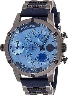 Police Adder Men's Silver Dial Rubber Band Watch - P 14536JSU-04P