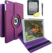 iPad Case Cover Rotating Stand with Wake Up / Sleep Function For Apple ipad 2nd 3rd 4th Generation Model A1395 A1396 A1397 A1416 A1430 A1403 A1458 A1460 or A1459 Purple