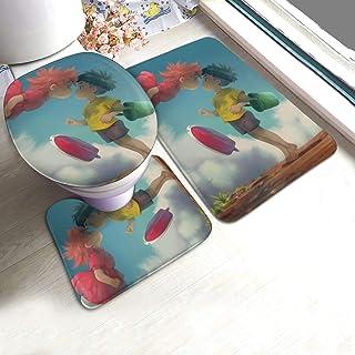 Novco Ponyo Pony Sosuke - Juego de 3 alfombrillas antideslizantes para baño (61 x 90 cm)
