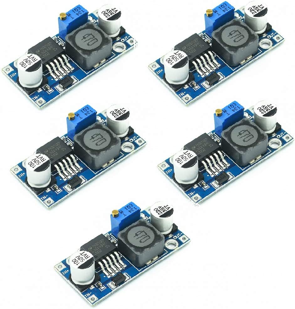 Chironal 5PCS/LOT LM2596S DC-DC Step Down Power Supply Module Buck 3A Adjustable Step-Down Module Voltage Regulator LM2576