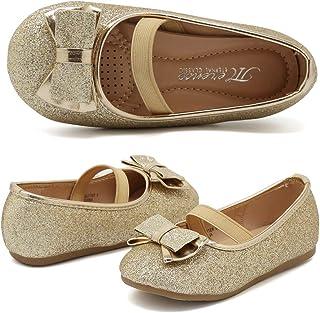 Girls' Flats - Gold / Flats / Shoes