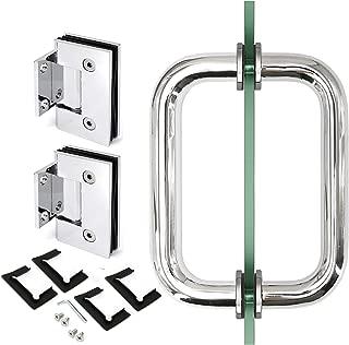 Chromed 90 Degree Geneva Wall to Glass Door Hinge for 1/2