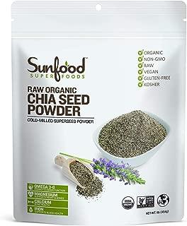 Sunfood Chia Seed Powder, 1 Pound, Organic, Raw