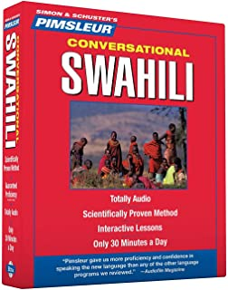 Pimsleur Swahili Conversational Course - Level 1 Lessons 1-16 CD: Learn to Speak and Understand Swahili with Pimsleur Language Programs (1)