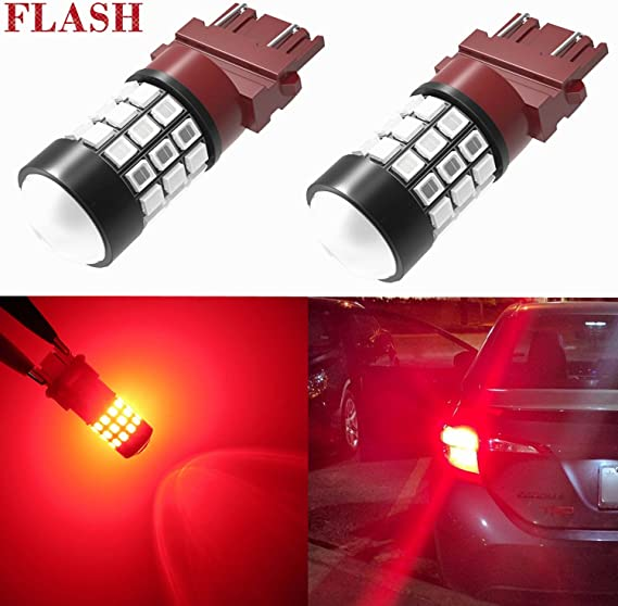 iJDMTOY (2) Xenon White High Power 9-SMD 906 912 920 921 T15 LED Replacement Bulbs Compatible With Chevrolet Dodge Ford GMC Honda Nissan Toyota Truck 3rd Brake Lamp Cargo Lights