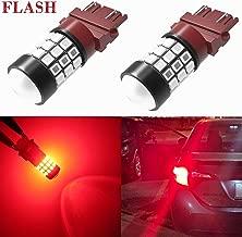 Alla Lighting 3156 3157 LED Strobe Brake Lights Bulbs Super Bright T25 3056 3057 3457 4157 4057 3157 LED Bulbs for Cars Trucks RVs SUVs Flashing Strobe Brake Stop Light, Brilliant Pure Red (Set of 2)