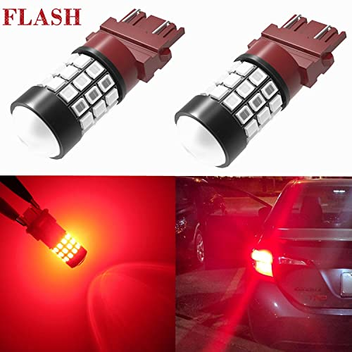 Alla Lighting 3156 3157 LED Strobe Brake Lights Bulbs Super Bright T25 3056  3057 3457 4157