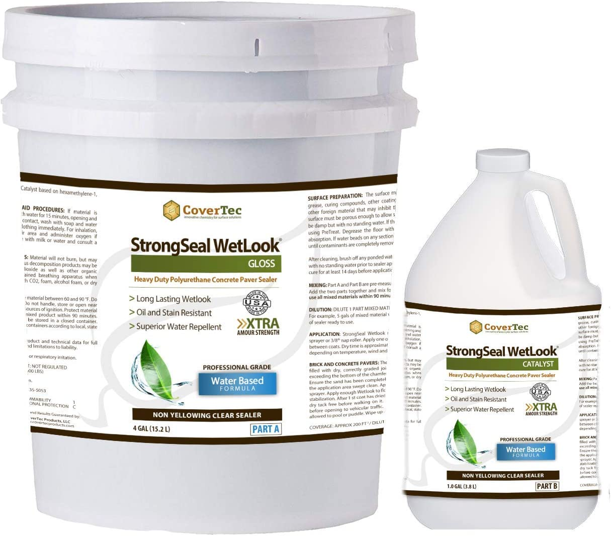 StrongSeal Wetlook AL完売しました。 Paver Sealer セールSALE%OFF Stabilizer Brick Joint-Sand for