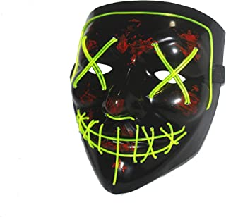 Halloween LED Mask Purge Masks Election Mascara Costume DJ Party Light Up Masks Glow in Dark