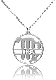 LoEnMe Jewelry Silver Plated Virgo Custom Women Name Sterling Silver 12 Constellations Jcpenney Music Necklaces