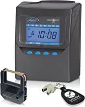 Lathem Calculating Atomic Time Clock, For 100 Employees, Includes Mounting Clip, Gray (7500E)