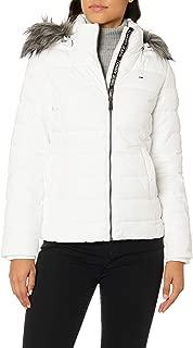Tommy Hilfiger Kadın Palto Tjw Essential Hooded Jacket, Beyaz, M (Üretici ölçüsü: M)